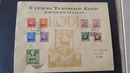 Italy 1947 British Occupation Of Italian Colonies, Leros, Souvenir Cover - British Occ. MEF
