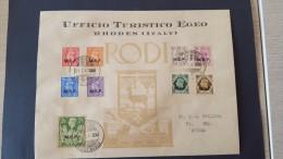Italy 1947 British Occupation Of Italian Colonies, Rhodes, Souvenir Cover - British Occ. MEF