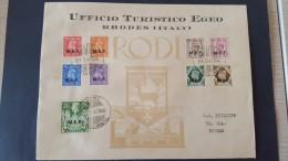 Italy 1947 British Occupation Of Italian Colonies, Symi, Souvenir Cover - British Occ. MEF