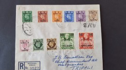 Italy 1950 British Occupation Of Italian Colonies, B.A.Somalia Registered FDC - Occ. Britanique MEF