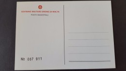 Italy Sovrano Militare Ordine Di Malta 1981 Year Of Disabled Unused Postal Card - 6. 1946-.. Repubblica