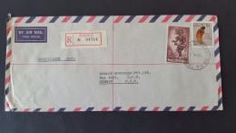 Papua New Guinea 1963 Registered Mail Sent To Australia - Papouasie-Nouvelle-Guinée
