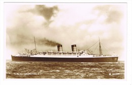 RB 1054 - Early Real Photo Postcard - R.M.S. Mauretania - Steam Ship Boat - Paquebote