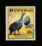 9] 1 Timbre Oblitéré Circulé 1 Circulated Cancelled Stamp Burundi Oiseau Bird Pintade Guineafowl