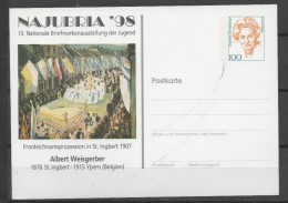 ALLEMAGNE CARTE    Albert Weisgerber Peintre - Kunst