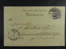 Hamburg Altona 1888 - Ganzsachen