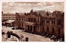 """02225 """"DAMAS - LA GARE DE HEDIAZ"""" ANIMATA, AUTO ´50/60. CART.  ORIG.  SPED. 1955 - Siria"""
