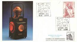 22.3.1979 CENTENARIO DELLA LINEA MILANO SARONNO - Affrancature Meccaniche Rosse (EMA)