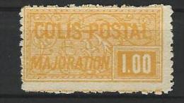 "FR Colis Postaux YT 22 "" Majoration 1F00 Jaune Dentelé "" 1918-20 NSG - Paketmarken"