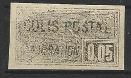 """FR Colis Postaux YT 23 """" Majoration 5c. Noir Non Dentelé """" 1918-20 NSG - Paketmarken"""