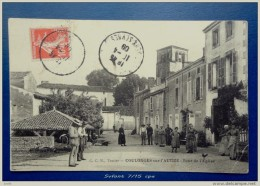 79 - COULONGES Sur L'AUTIZE  - TOUR DE L' EGLISE - Animée - Coulonges-sur-l'Autize