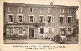 France - 87 - Chalus - Hôtel Des Voyageurs - Facture Au Verso - Chalus