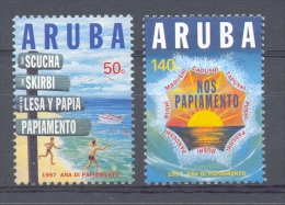 Mmz0188 TAAL JAAR VAN HET PAPIAMENTO BOOT SCHIP SHIP BOAT LANGUAGE ARUBA 1997 PF/MNH  VANAF1EURO - Talen