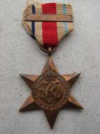 Militaria -  Médaille The Africa  Star -  Avec Barette 8th Army - G.R.J.VI  - TTB - Grossbritannien