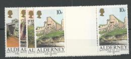1986 MNH Alderney  Gutterpairs, Postfris - Alderney