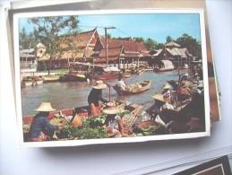 Thailand Bangkok Wat Sai Floating Market - Thailand