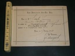 ECOLE SAINT LUC LIEGE - RECU 25 FRANCS DE COTISATION POUR 1911  De Emile JAMIN Rue Du Palais 32 - Vieux Papiers