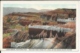Carte Postale  Etats Unis  : Cedar Breaks , Southern Utah - Reached From Cedar City Utah On The Union Pacific System - Autres