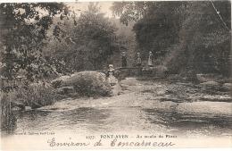 PONT AVEN Au Moulin Du Plessis -pli Angle -  Timbrée - Pont Aven