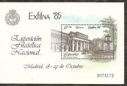 1985-ED.2814 H.B.-EXFILNA´85-MUSEO DEL PRADO-NUEVO- - Blocks & Sheetlets & Panes