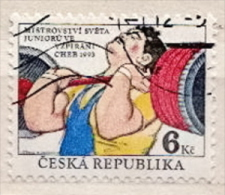 Czechia CTO Stamp - Weightlifting