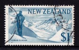 New Zealand 1967 Decimal Currency $1 Tasman Glacier Used - - - New Zealand