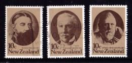 New Zealand 1979 Statesmen Set Of 3 Used - - New Zealand