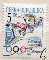 Czechia CTO Stamp - Winter 1994: Lillehammer