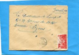 MARCOPHILIE-Comores-lettre Pour Françe- Cad MORONI-MADAGASCAR 1952- 2 Stamps N°2+7 - Komoren (1950-1975)