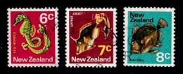 New Zealand 1970 Sealife 6c, 7c, 8c Used - New Zealand
