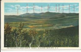 Carte Postale  Etats Unis  : The Presidential Range From MT Agassiz . Bethlehem . White Mountains . N.H - White Mountains