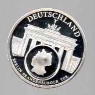 ALEMANIA - EL DINERO DE EUROPA - Medalla 50 Gr / Diametro 5 Cm Cu Versilvert Polierte Platte - [10] Conmemorativas