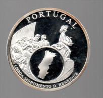 PORTUGAL - EL DINERO DE EUROPA - Medalla 50 Gr / Diametro 5 Cm Cu Versilvert Polierte Platte - Portugal