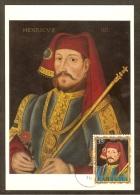 BARBUDA Carte Maximum - Henri IV 1399-1413 - Antigua Und Barbuda (1981-...)
