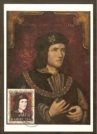 BARBUDA Carte Maximum - Richard III 1483-1485 - Antigua Und Barbuda (1981-...)