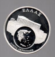 GRECIA - EL DINERO DE EUROPA - Medalla 50 Gr / Diametro 5 Cm Cu Versilvert Polierte Platte - Grecia