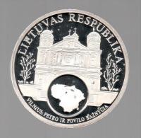 LITUANIA - EL DINERO DE EUROPA - Medalla 50 Gr / Diametro 5 Cm Cu Versilvert Polierte Platte - Lituania