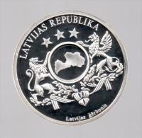 LATVIA / LETONIA - EL DINERO DE EUROPA - Medalla 50 Gr / Diametro 5 Cm Cu Versilvert Polierte Platte - Letonia