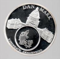 DINAMARCA - EL DINERO DE EUROPA - Medalla 50 Gr / Diametro 5 Cm Cu Versilvert Polierte Platte - Dinamarca