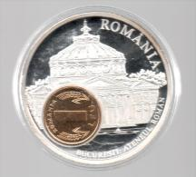 RUMANIA - EL DINERO DE EUROPA - Medalla 50 Gr / Diametro 5 Cm Cu Versilvert Polierte Platte - Rumania