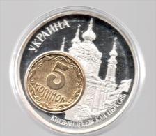 UCRANIA - EL DINERO DE EUROPA - Medalla 50 Gr / Diametro 5 Cm Cu Versilvert Polierte Platte - Ucrania