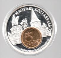 HUNGRIA - EL DINERO DE EUROPA - Medalla 50 Gr / Diametro 5 Cm Cu Versilvert Polierte Platte - Hungría
