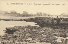 Ambleteuse - Les Rochers à Moules Et Le Fort Vauban - Other Municipalities