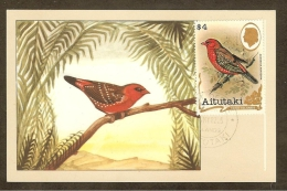 AITUTAKI Carte Maximum - Bengali Rouge - Aitutaki