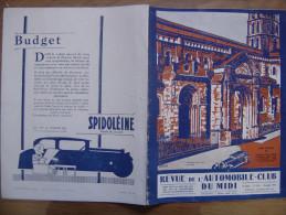 1931 AUTOMOBILE CLUB DU MIDI 148 Toulouse Pyrenees Tristan Bernard - Auto/Moto