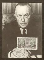 ALLEMAGNE FEDERALE Carte Maximum - Adenauer-De Gaulle - Maximumkarten (MC)