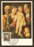 ALLEMAGNE RDA Carte Maximum - La Sainte Famille - Maximumkarten (MC)
