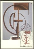 DANEMARK Carte Maximum - Hommage à Léon Degand - Cartoline Maximum