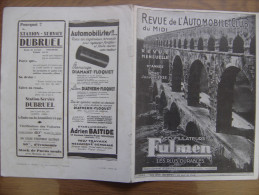 1933 AUTOMOBILE CLUB DU MIDI 162 Pont Du Gard Paves De Toulouse - Auto/Moto
