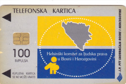 BOSNIA Phonecard With Chip  / Human Rights / JP PTT BIH - Bosnia